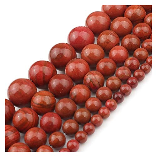 HETHYAN Piedra Natural del Sur del Sur de la ágata roja con Las Perlas Sueltas for la fabricación de Joyas 4 6 8 10 12 mm 15 Pulgadas Fit DIY Pulsera Collar Pendientes (Size : 6mm 61pcs Beads)