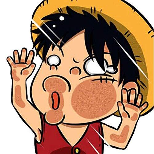 Christ For Givek Anime One Piece Lustig Gesicht Sticker Cartoon Laptop Sticker Plastik Wasserfest Aufkleber Stoßfänger No-Duplicate Skateboard Auto Snowboard Fahrrad Gepäck Dekor - Luffy