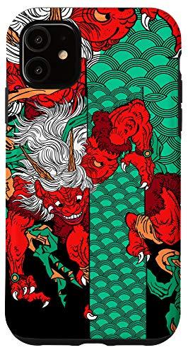 iPhone 11 Minimalist Japanese Demon art Oni Ogre Devil Monster Case