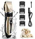 YUESUO Clippers for Grooming Low Noise Professional Rechargeable Wireless pet Dog Razor Electric Clipper. (Electric)