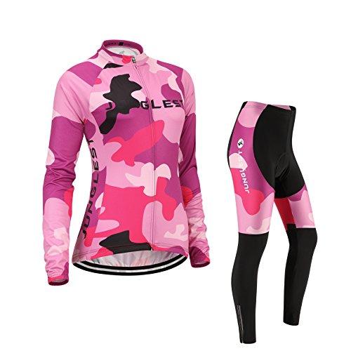 (Cojín 3D)(traje(Forro polar) tamaño:L) Moda rompevientos rendimiento de sudo ropa ciclismo manga...