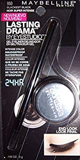 Maybelline Lasting Drama by EyeStudio Gel Eyeliner - Size: .11 oz, Color: Blackest Black 950