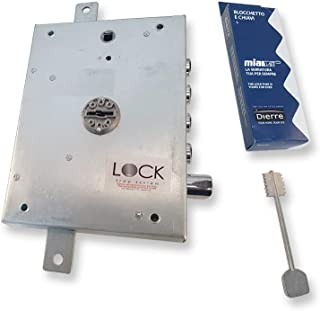 Cerraduras dierre para puertas blindadas a triple doble Mapa entrada Llave y tirador 70 mm