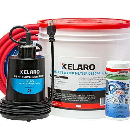 Kelaro Tankless Water Heater Flushing Kit with Rectorseal Calci-Free Descaler