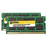 Dieselノートパソコン8GB RAM ( 4gb X 2) Laptop pc3l-12800s ddr31600MHz 204-ノートブックメモリ