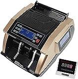 WERCHW Detector de Dinero, Huella pequeña, fácil de Leer Detector de falsificación automática con sensores Infrarrojos, magnéticos y Ultravioleta, Compacto y liviano