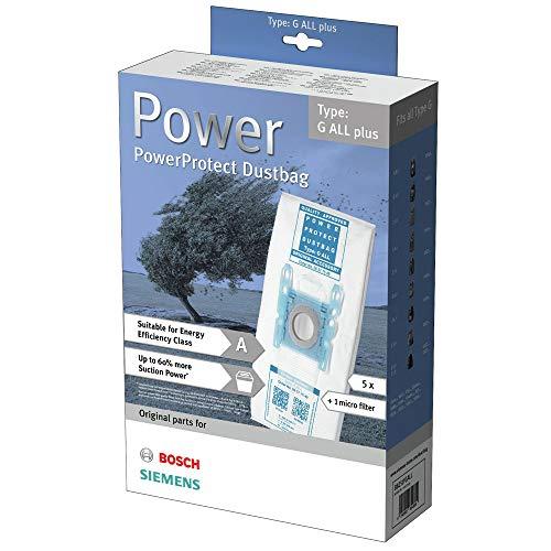 PakTrade 5 Staubsaugerbeutel Für Bosch BBZ51FGALL, Siemens VZ51FGALL, G All Plus, 00577549, 00577634 00573853 00575069