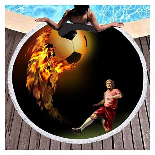 YanHui-LZC Toalla de playa con estampado digital de llama, de microfibra, circular, grande, para decoración del hogar, para niños, mujeres, hombres, niñas (color: B, tamaño: 150 cm)