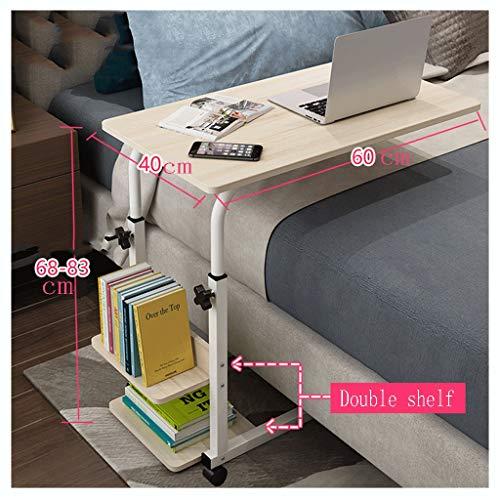 LSRRYD - Mesa auxiliar para ordenador portátil, con ruedas y estante para cama y sofá