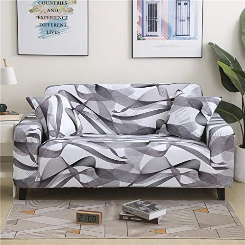 PPMP Funda de sofá elástica Floral Fundas de sofá para Sala de Estar Protector de Muebles de poliéster Fundas Funda de sofá A21 3 plazas