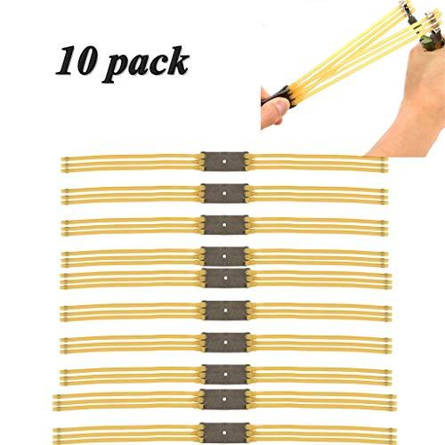 Crazy-M 10 Satz Ersatzgummi Steinschleuder Ersatzgummi für Steinschleuder Gummibänder für Schleuder Outdoor Slingshot Ersatz Band für Katapult Bands Slingshot Band
