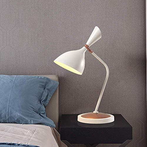 Lámpara de escritorio Lámpara de mesa minimalista moderna escandinava de hierro forjado blanco personalidad creativa escritorio de trabajo estudio dormitorio lámpara de lectura de cabecera 33 * 63 cm