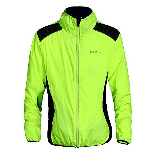 WOSAWE Fahrradjacke für Herren Damen wasserdichte Ultraleichte Sportbekleidung mit Reflektierendem für Radfahren, Laufen, Wandern, Bergsteigen S