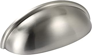 Amazer Cabinet Handle Pulls, D1000 Satin Nickel Cabinet & Furniture Hardware Bin Cup Drawer Handle Pull - 3.07