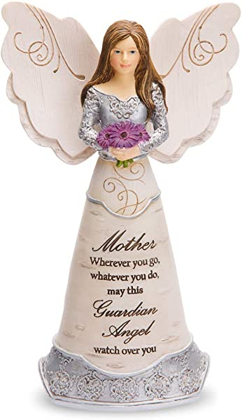 Pavilion Gift Company Elements Mother Guardian Angel Figurine 6 Purple