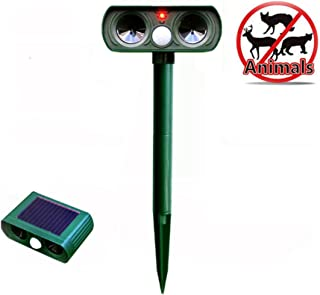Tyjtyrjty Mole Repeller Outdoor Solar Powered Ultrasonic Animal Repeller With PIR Sensor Protect Your Yard Lawn Garden Waterproof