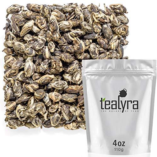 Tealyra - Jasmine Phoenix Pearls - Best Chinese Jasmine Green Tea - Loose Leaf - Organically Grown - Great Jasmine Aroma and Taste - 110g (4-ounce)