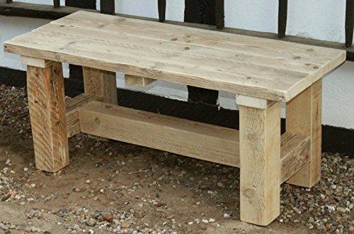 decorie67 tuinbank houten bank massief hout natuurlijk geolied uit hout volledig gemonteerd