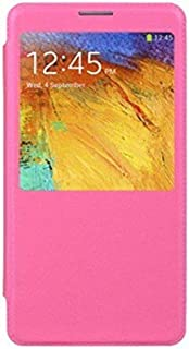 Dream Wireless Cover Flip Case and Stand Feature with Viewing Window for Samsung Galaxy Note 3, Pink