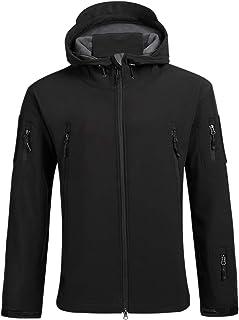 SAENSHING Men Outdoor Military Tactical Jacket Waterproof Coat Softshell Warm Fleece Windbreaker Coat