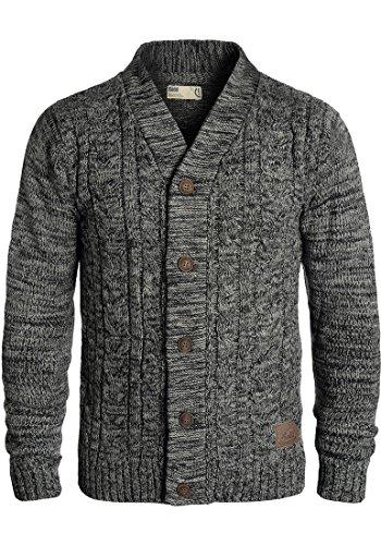 !Solid Philotus Herren Strickjacke Cardigan Grobstrick Winter Pullover mit V-Ausschnitt, Größe:XL, Farbe:Black (9000)