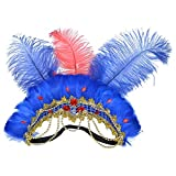 Retro, sexy, fiesta Tocado de plumas Sombreros Carnaval Samba Danza Diamante Avestruz Tocado de plumas Exótica Danza del vientre Realizar accesorios de disfraces de aro de pelo Pluma, tocado