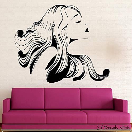 zqyjhkou Hot Girl Wandtattoos Friseursalon Beauty Spa Wandaufkleber Abnehmbare Kunstwand Für Gilrs Schlafzimmer Wohnzimmer Wand-dekor 56x68cm