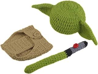 KLOP256 Traje de bebé conjunto de ropa yoda sombrero recién nacido cumpleaños ducha regalo dibujos animados pañal cubierta...