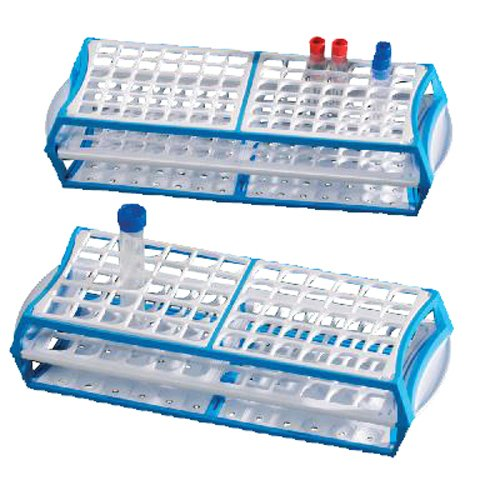 Deltalab m-560a Rack, de hasta 13mm de tubos de polímero de Acetal (Pack de 10)