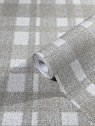 Tapete Beige Hochwertige Grafisch Vliestapete 100% Made in Germany Qualität Für Schlafzimmer oder Wohnzimmer 10,05m x 0,53m 32660