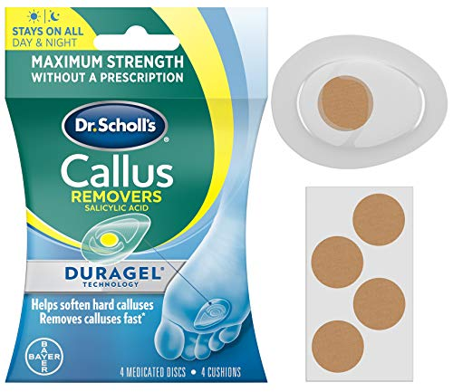 Dr. Scholl's CALLUS REMOVER with Duragel Technology, 4ct // Removes Calluses Fast and Provides Cushioning Protection against Shoe Pressure and Friction for All-Day Pain Relief