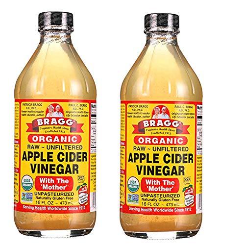 Bragg Organic Apple Cider Vinegar - 16 Ounce (Pack of 2)