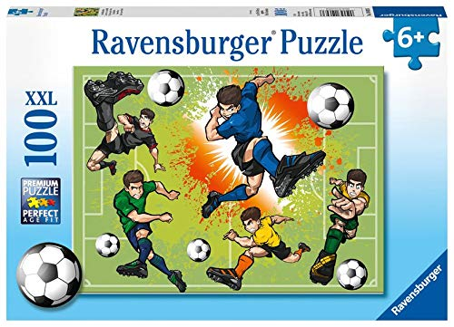 Ravensburger Kinderpuzzle 10693 - Im Fußballfieber - 100 Teile
