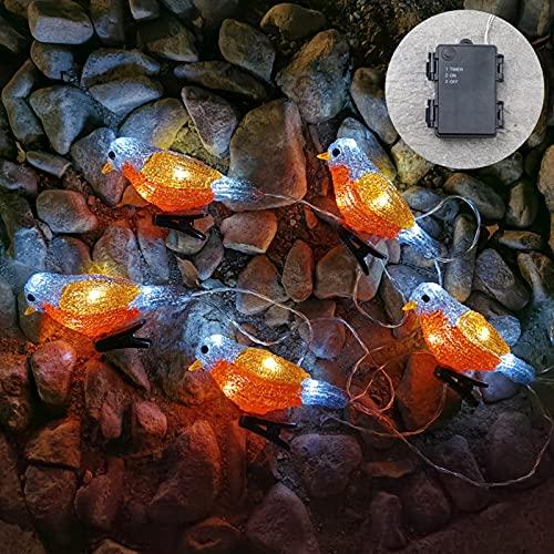 Obubble Cadena de luces con pilas, resistente al agua, decorativa, para habitación, interior o fiesta