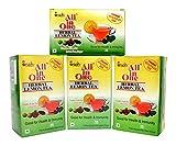 All in One Herbal Lemon Tea Premix Sulphur Less Sugar Pack of 4, 100 Pouches
