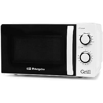 Orbegozo MIG 2130 Microondas con grill con 20 litros de capacidad, 5 niveles de funcionamiento y 3 funciones combinadas, temporizador hasta 30 minutos, 700-900 W, 900 W, Blanco: Amazon.es: Hogar