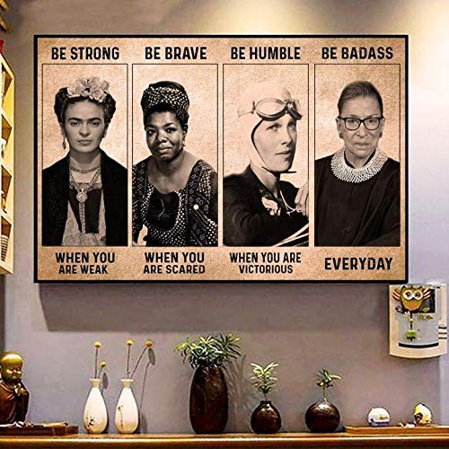 Feminist Be Strong Be Brave Be Humble Be Badass Poster No Frame OR Canvas 0.75 Inch Print in US