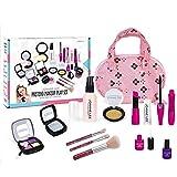 Ksruee 12pcs Little Princess Makeup Kit Toys Safe & Non-Toxic Kids Cosmetic First Make Up Pretend Toy Set
