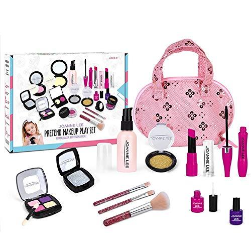 cheerfulus-1 Kit de Maquillaje para niñas, Juguetes, cosméticos Seguros para niños, Primer Juego de Juguetes para Princesa pequeña, Juego de Vestir