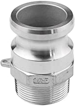 Manloney LLC Type F Cam & Groove Hose Fittings - 2″ Male Camlock x 2″ Male NPT - 304 Stainless Steel Coupling Quick Disconnect Adapter