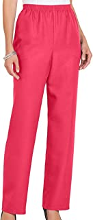 Alfred Dunner Women's Proportioned Medium Poly Gab Pant