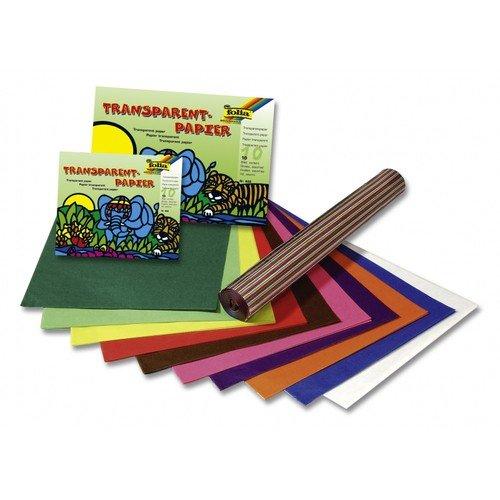 Folia 82525 - Transparentpapier Drachenpapier farbig 70x100cm 42g/qm, 25 Bogen in 10 Farben