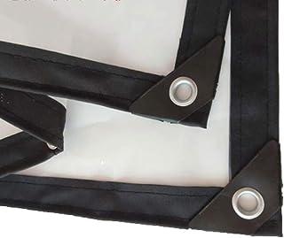 Lona Transparente Balcón Paño a Prueba de Lluvia Aislamiento A Prueba de Polvo A Prueba de Viento Transparente Resistencia al desgarro PE, 22 Tamaños (Color: Transparente, Tamaño: 2x8m)