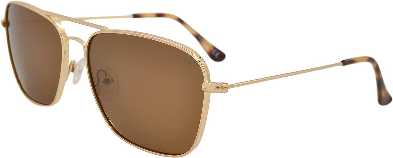 SQUAD Gafas de sol Mujer hombre Polarizadas Cuadradas unisex neutrales Fashion Retro Clásico Metálico cierre de aro protección UV400