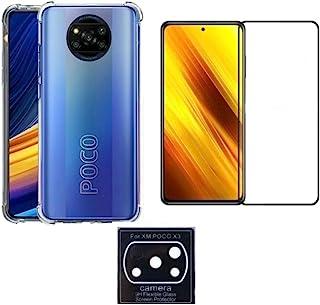 Kit Capa Anti Impacto + Película 3D Vidro+ Película Câmera Para Xiaomi Poco X3 NFC Poco X3 Pro