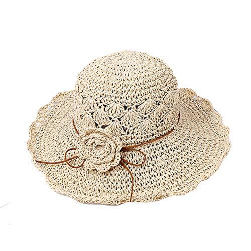 SLCN Sombrero De Playa para Mujer, De Primavera Y Verano, Sombrero De Paja De Ocio, Sombrero De Sol para Exteriores