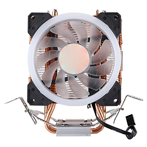 CPU-radiator CPU-koellichaam 12VDC 22dBA 48CFM 3-pins hydraulische CPU-koeler, 5-kleurenlicht, enkele ventilator, gouden radiator warmteafvoer voor IntelLGA775 Core2DUO Core 2/Celeronp/Pentium 4 enz