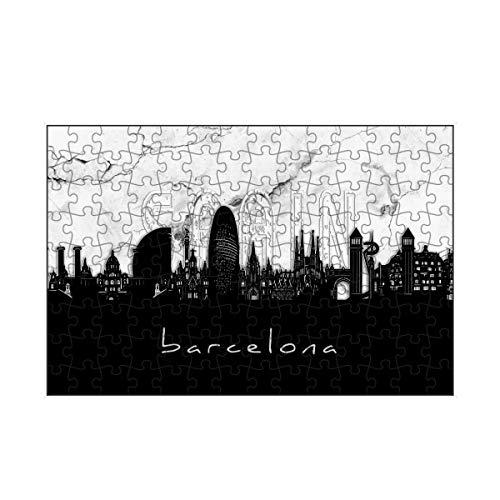 artboxONE-Puzzle S (112 Teile) Städte Barcelona Skyline Marble - Puzzle Barcelona Barcelona Buildings