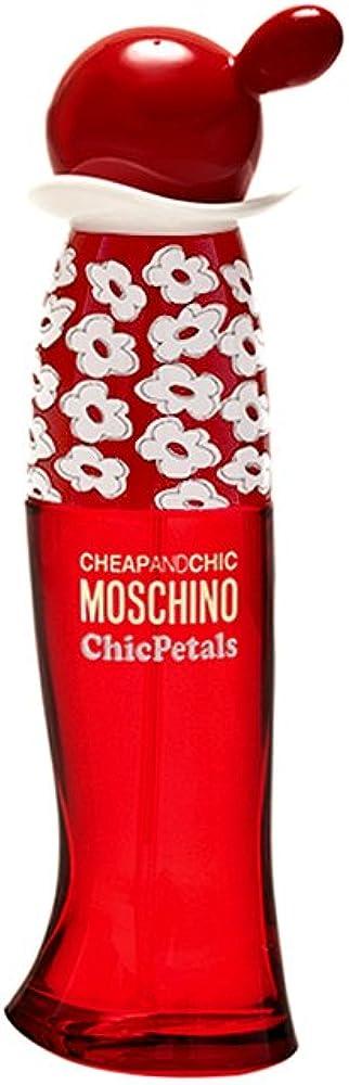 Moschino chic petals,eau de toilette per donna, vapo 50ml 1115
