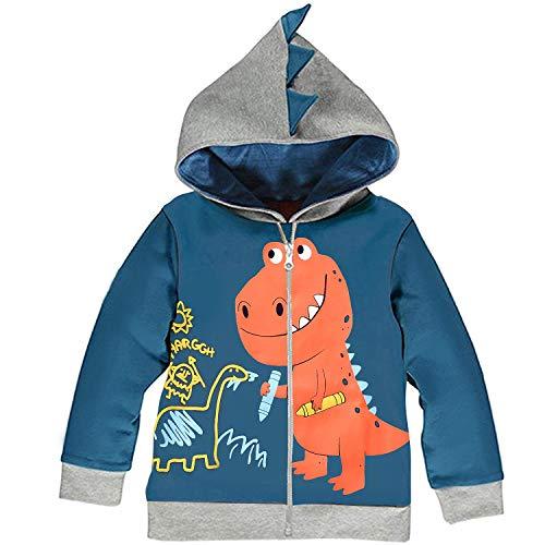Dinosauro Felpe con Cappuccio Bambini e Ragazzi Stile 4,110/3 Anni